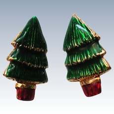 Lia Lianna Christmas Tree Clip Earrings for the Holidays
