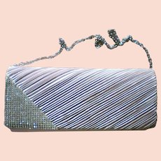 Beige and Rhinestone Clutch Evening Bag for the Holidays