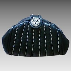Emilio Designs New York Rhinestone Studded Leather Evening Bag