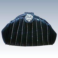 Emilio Designs New York Rhinestone Studded Leather Evening Bag