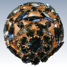 Sapphire Blue Austria Crystal Brooch