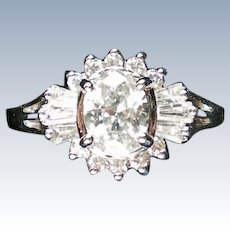 Oval CZ Engagement or Cocktail Ring