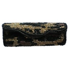 Beaded Lipstick Purse Holder with Mirror