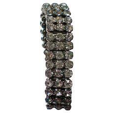 Mid-Century Rhinestone Stretch Expansion Bracelet