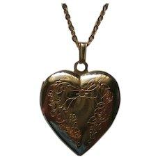 Sweetheart Heart Locket Necklace Pendant