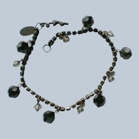 Liz Palacios SF Swarovski Dangle Bead Black Bracelet