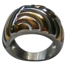Gold and Silver tone Statement Ring