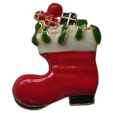 Santa's Christmas Boot Pin