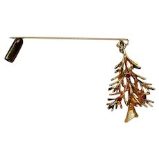 Dangling Christmas Tree Stick Pin for the Holidays
