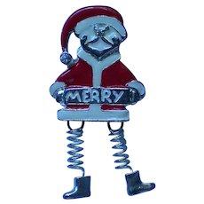 Merry Santa Dangle Pin for Christmas Holidays