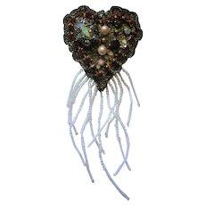 Artisan Valentine Heart Brooch
