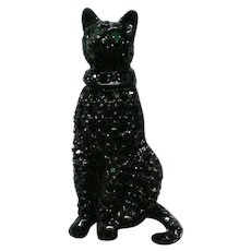Fabulous Carolee Black Cat Pave' Rhinestone Pin