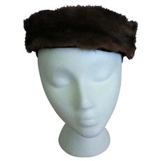 Stylish 1940's Mink and Velvet Hat – Hand Sewn