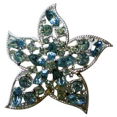 Sarah Coventry Signed Starfish Brooch
