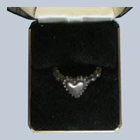 Silver Plate Heart Ring
