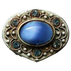 Florenza Moon Stone Pill or Snuff Box