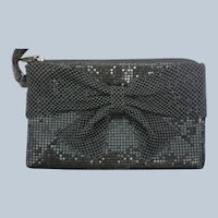 Black Metal Mesh Beaded Clutch Purse or Bag