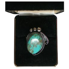 Sterling Silver Oval Turquoise Native American Ring