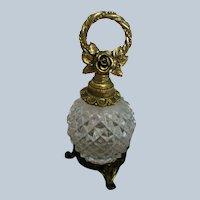 Matson Gold Gilt Ormolu Dogwood Flower Perfume Bottle
