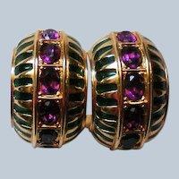 Swarovski Large Crystal Hoop Pierced Earrings