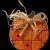 Wooden Pumpkin Pin for Halloween