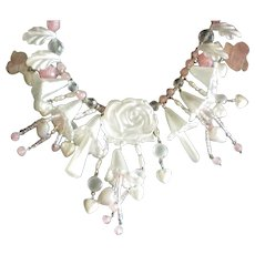 Roxsann Charm Necklace with Roses, Hearts and Flowers