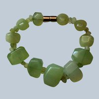 Natural Stone Lime Colored Rock Bracelet