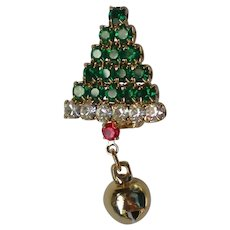 Tie Tac or Lapel Christmas Tree Pin for the Holidays