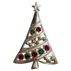 Silver tone Christmas Tree by LIA