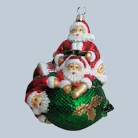 Large Santa Claus Covering the World Christmas Ornament