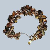Dangle and Glass Bead Link Bracelet