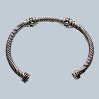 Twisted Sterling Silver Bangle Bracelet