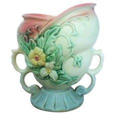 Hull Pottery Wild Flower Double Handled Vase