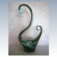 Elegant Swan Glass Ashtray