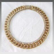 Beautiful Jewels By Julio Mesh and Rhinestone Choker Necklace