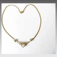 Beautiful signed Korea Rhinestones Necklace