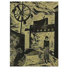 Elettra Metallino (1932-) Italian Artist S/N Lithograph