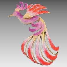 Divine Bird of Paradise by Kordes & Lichtenfels Germany Brooch