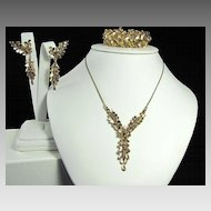 Amazing Marcel Boucher Bracelet Necklace and Earrings Set