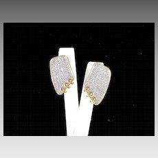Dazzling Vintage Rhinestone Earrings