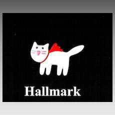 Vintage Celluloid Hallmark 1989 Figural Cat Brooch Pin