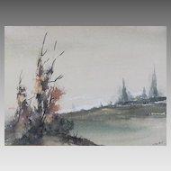 Splendid Landscape Watercolors by Artist L.Talbot