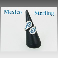 Mexico Sterling Silver & Turquoise Ring Size 8
