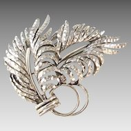 Vintage Oscar de La Renta  Feather Brooch