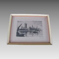 Gremillet Wonderful Etching by Listed French Engraver