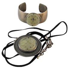 Vintage Jan Michaels Oriental Necklace and Bracelet Set