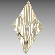 Huge Vintage Modernist Sterling Silver Brooch