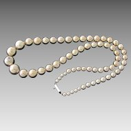 Alicia Taxco Sterling Silver Graduated Bead Necklace
