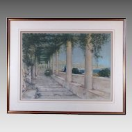 William Adolphe Lambrecht Etching S/N by Well Listed Artist