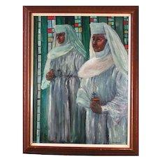 Joseph Hilpert (1895-1975) Beautiful Religious Oil Painting